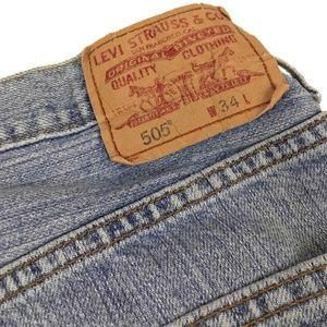 Levi's Shorts - Levi's Regular Fit Light Wash Denim Jean Shorts 33